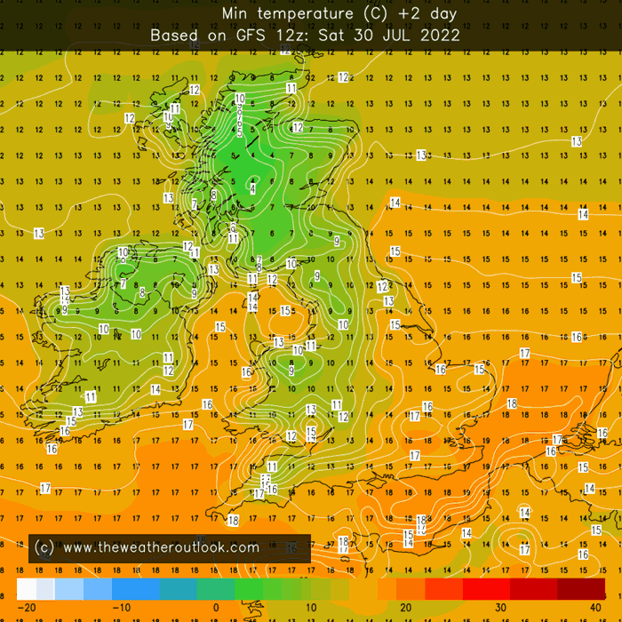 Minimum temperature tomorrow