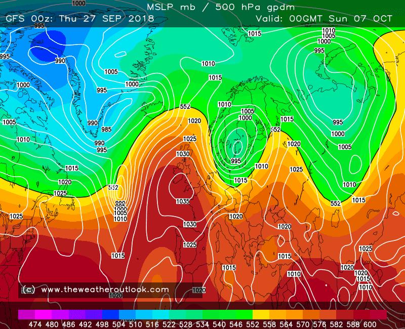 GFS forecast chart 1