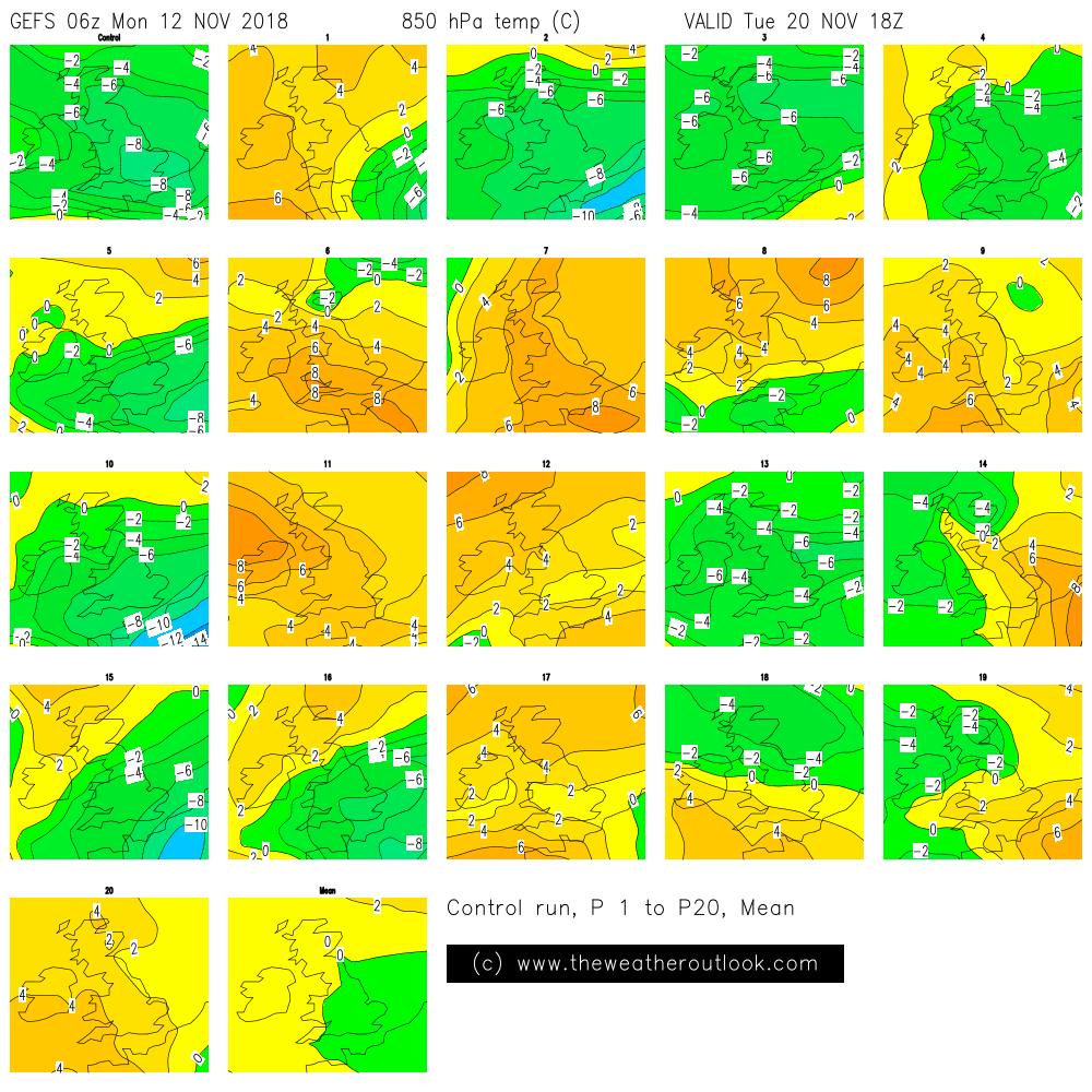 GEFS 850hPa temperatures 1