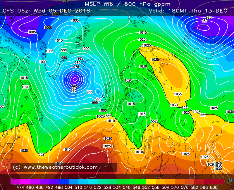 GFS 06z 850hPa temperatures