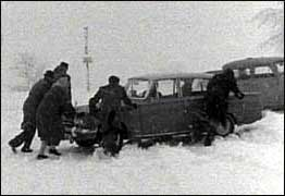Car in snowdrift