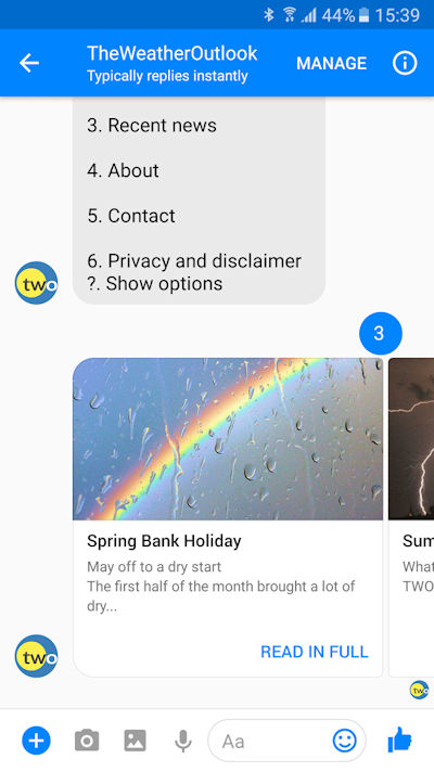Facebook Messenger Bot 2