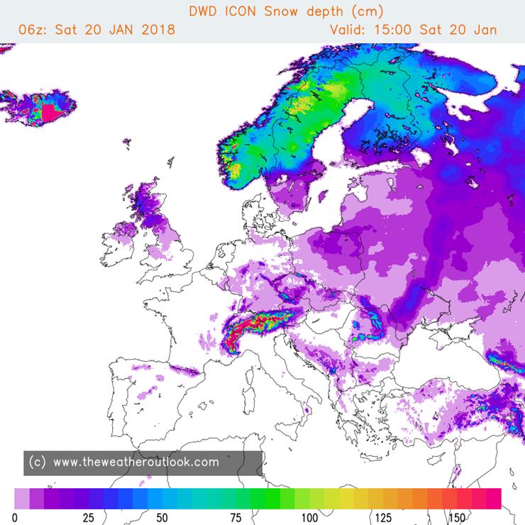 DWD ICON snow chart