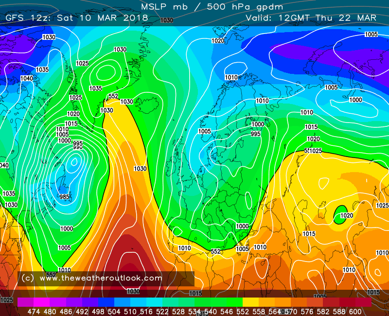 GFS forecast chart