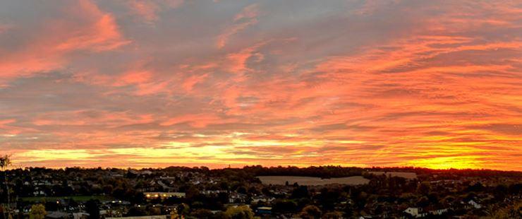 Red sky in October