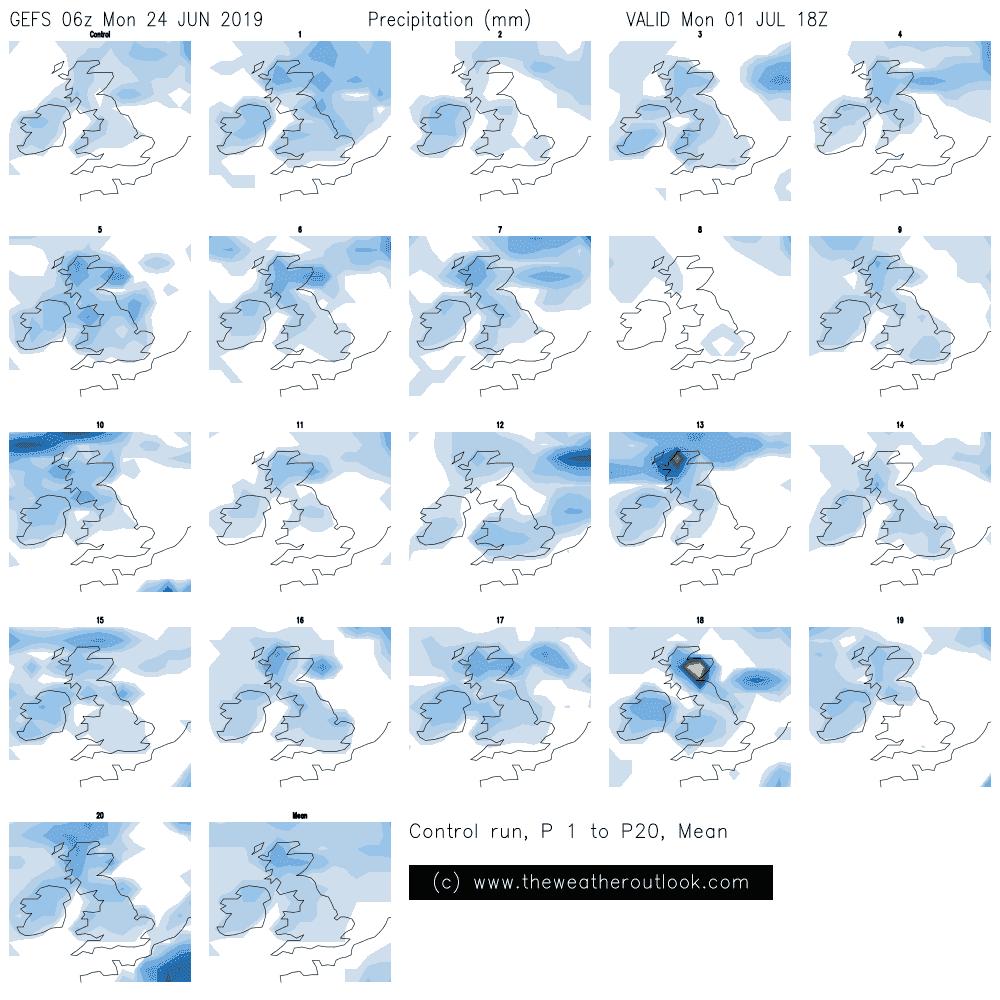 GEFS 06z rainfall