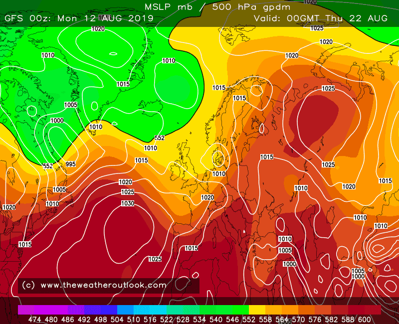 GFS 06z 500hPa heights and MSLP