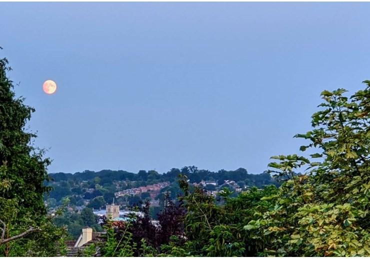 Moon over Berkhamsted