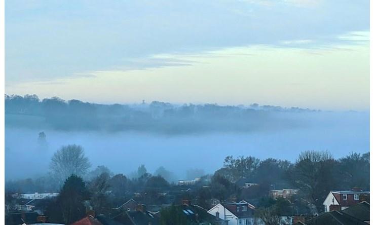 Autumn mist, Berkhamsted, Herts