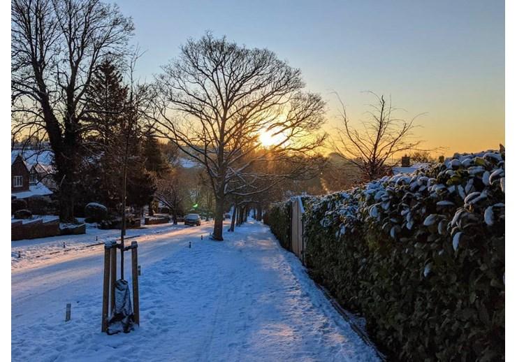 Berkhamsted snow, February 27th 2020