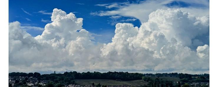 Summer cloudscape overlooking Berkhamsted, Hertfordshire