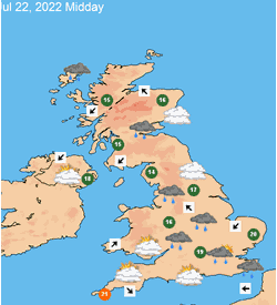 14 Day UK Weather Forecast