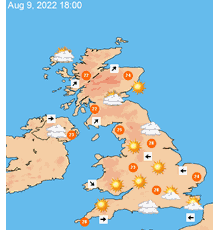 UK 7 day weather forecast maps at a glance TheWeatherOutlook