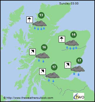Scotland Weather Map.Weather Maps For Scotland