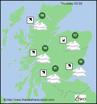 Tuesday Weather Map.Weather Maps For Scotland