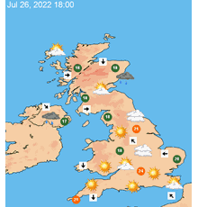 UK 7 day weather forecast maps at a glance - TheWeatherOutlook