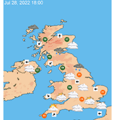 Map Of Uk Weather.Uk 7 Day Weather Forecast Maps At A Glance Theweatheroutlook