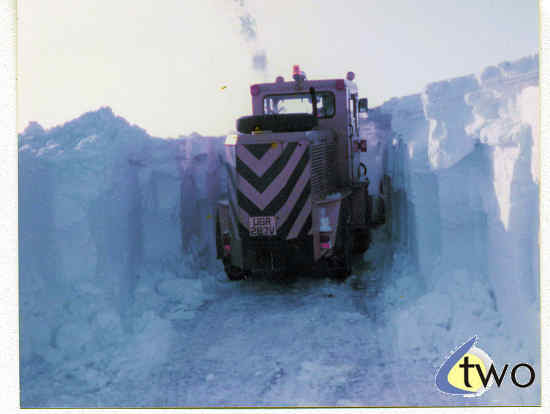 Winter 1978/79 snowplough in action