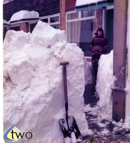 Deep snow, winter 1978/79