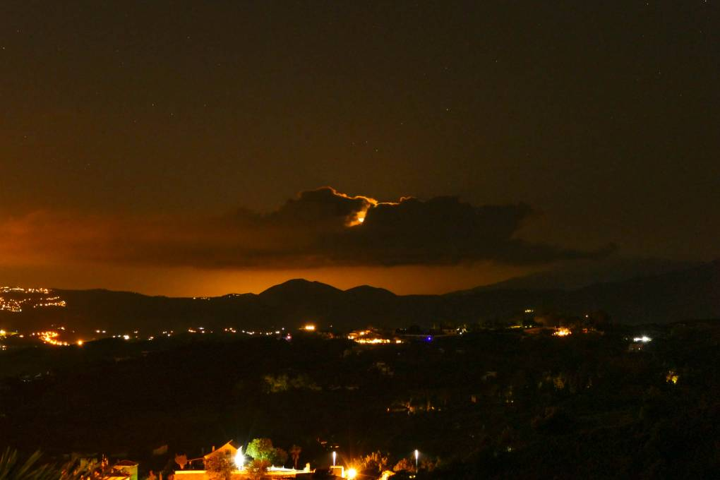Moonset from a friends villa just below Mijas Pueblo, Spain on New Year Eve Mijas, ,Spain, sent by nbquidditch