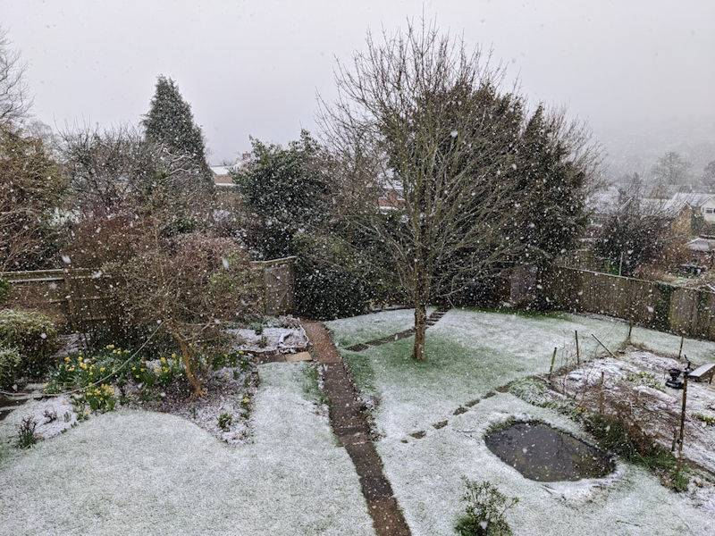 First settling snow of the winter Berkhamsted, Hertfordshire,United Kingdom, sent by brian gaze