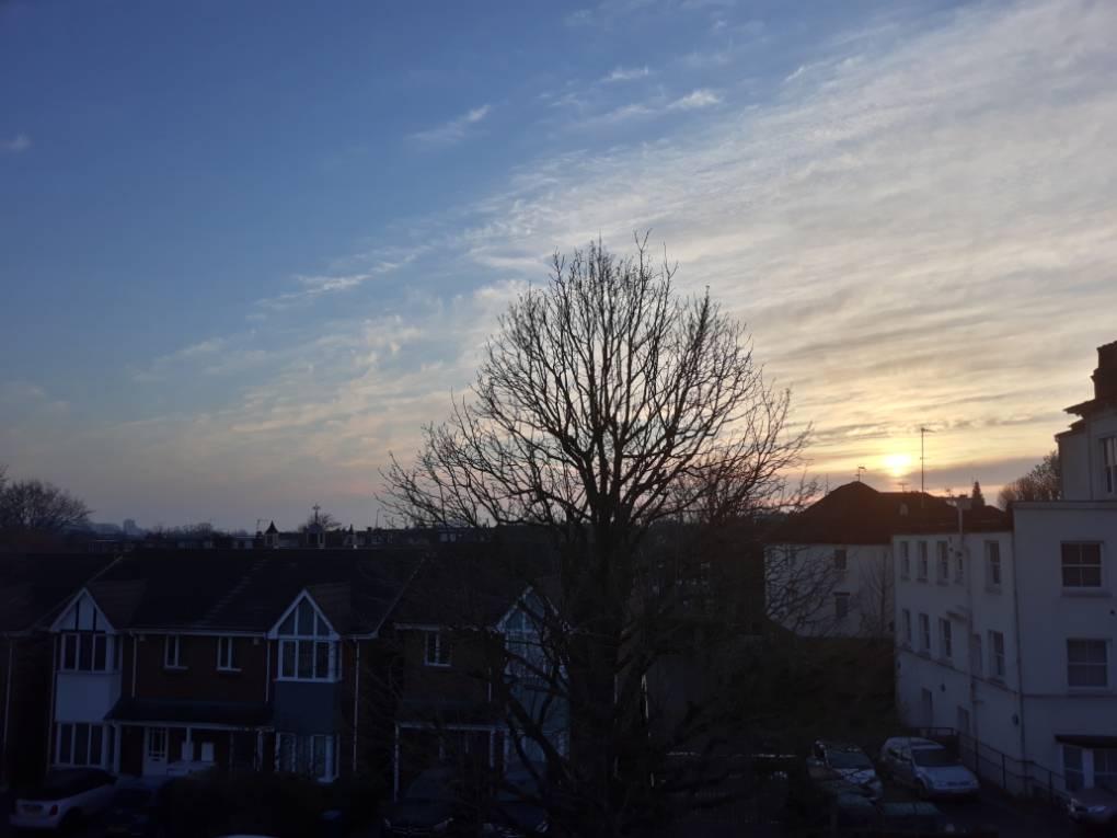 Sunrise over West London Ealing, London,England, sent by gtjrja