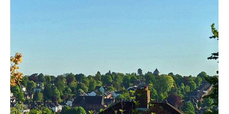 Spring view across Berkhamsted