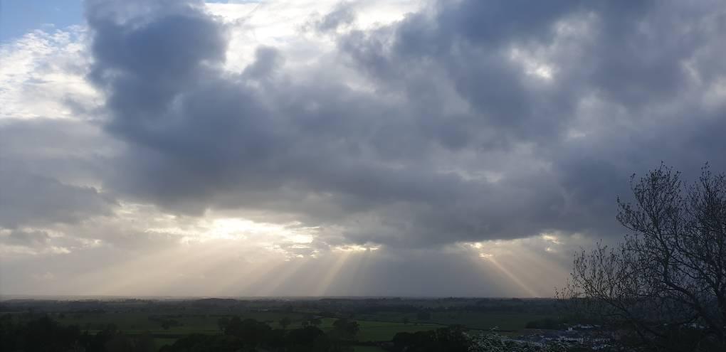 Distant Showers BRAMPTON, Cumbria,United Kingdom, sent by Cumbrian Snowman