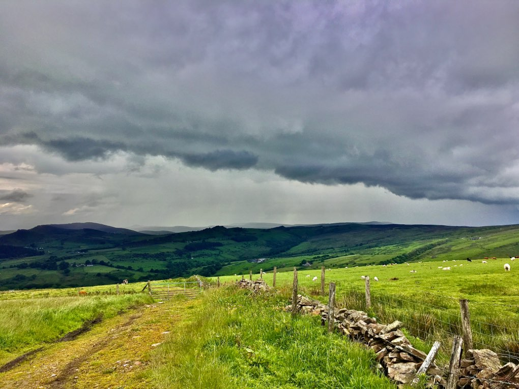 hefty showers over the hills leek, staffordshire,uk, sent by toppiker60