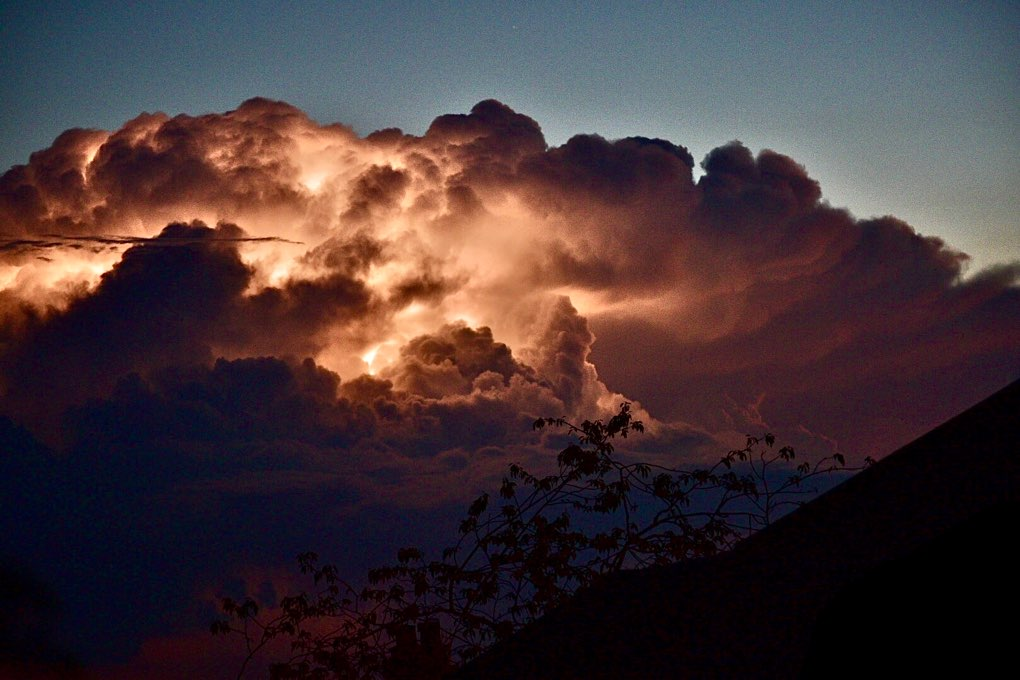 Distant storms tonight Leek, Staffordshire,Uk, sent by toppiker60