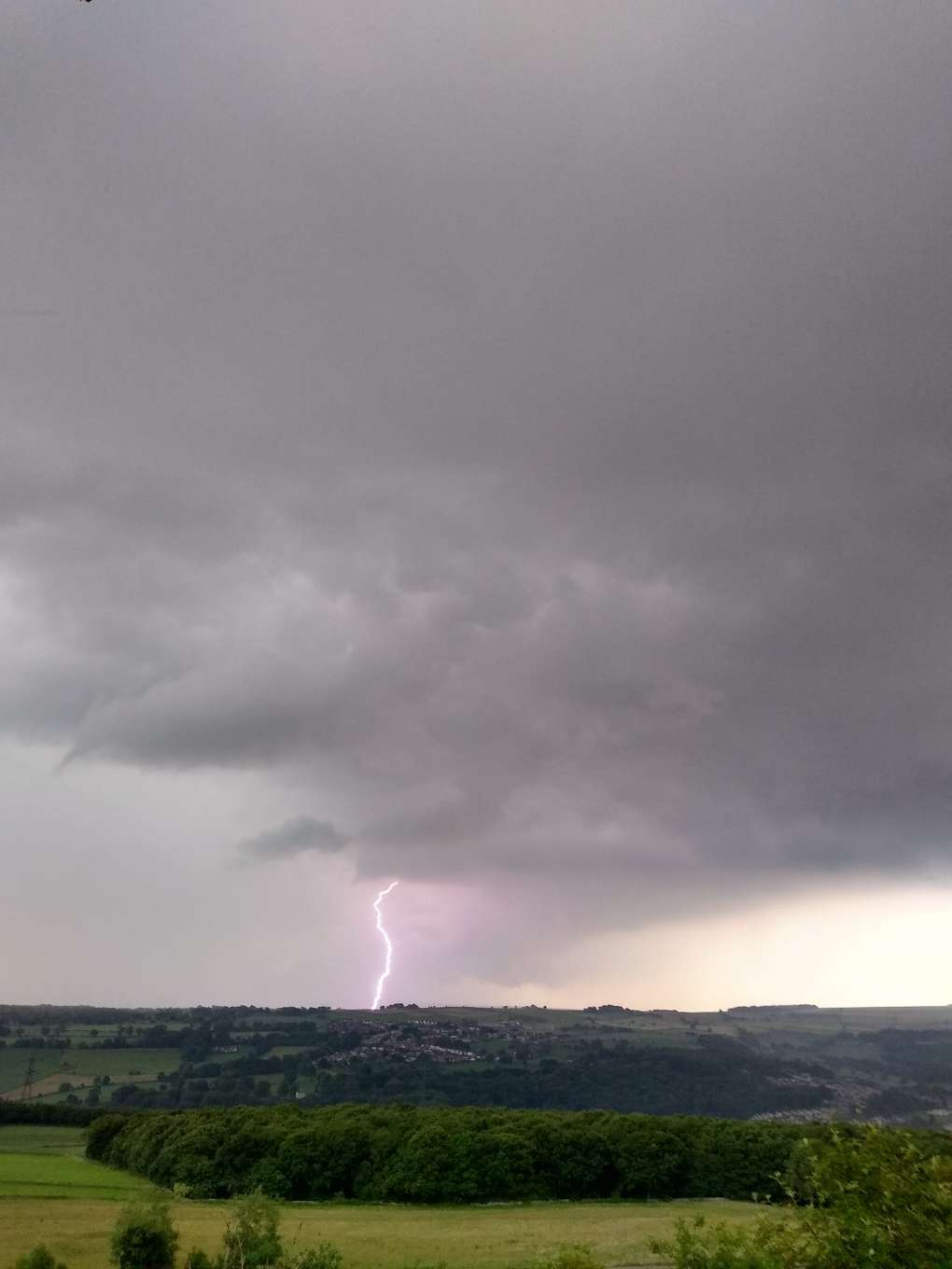 Taken from N Sheffield looking westwards on the evening of 16th June 2020 Sheffield, South Yorkshire,United Kingdom, sent by SJV