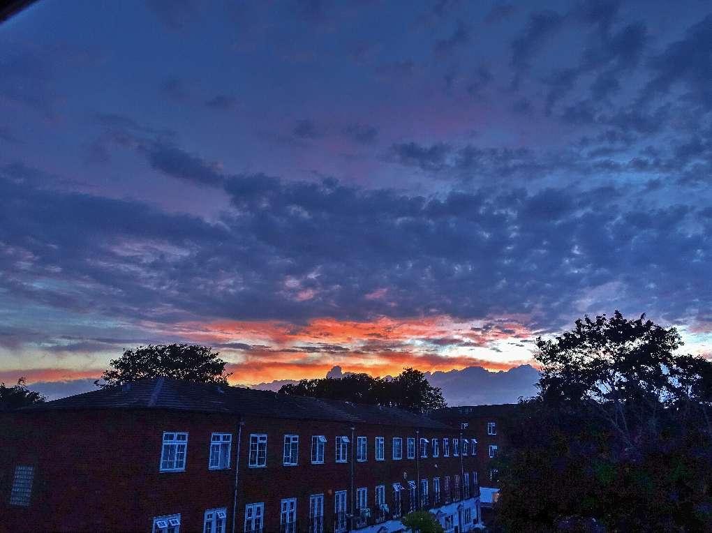 Sunset 21:30 27/6/20 Richmond, London,UK, sent by lanky