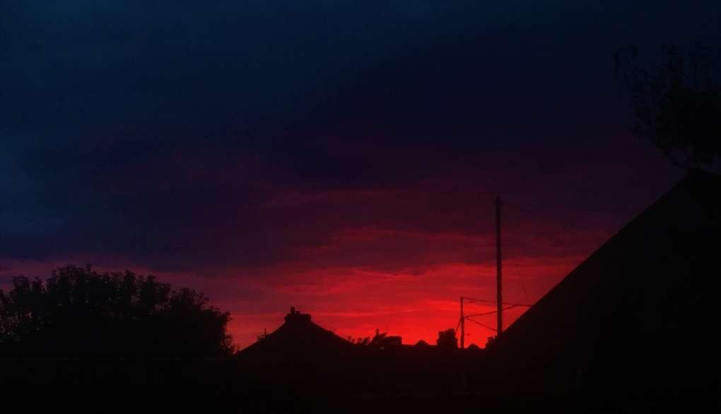 Moody Sunset before rain Dartford, Kent,United Kingdom, sent by Windy Willow