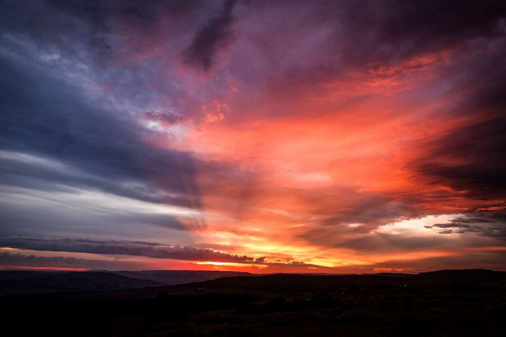 Sunset after the storm  Sheffield, ,United Kingdom, sent by SJV