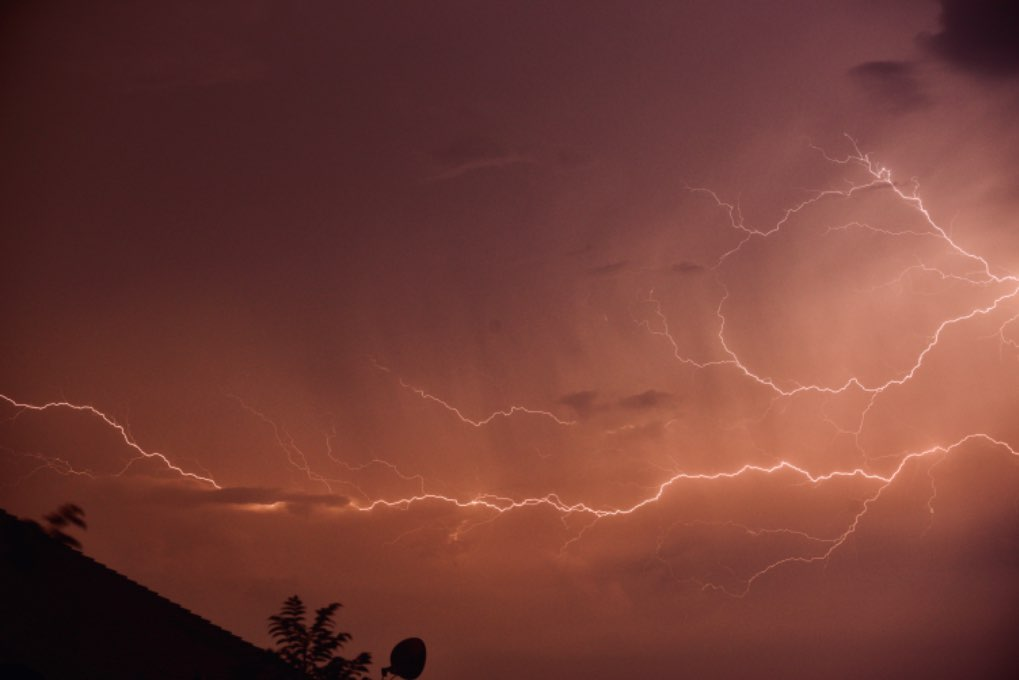 Great storms tonight Leek, Staffordshire,Uk, sent by toppiker60
