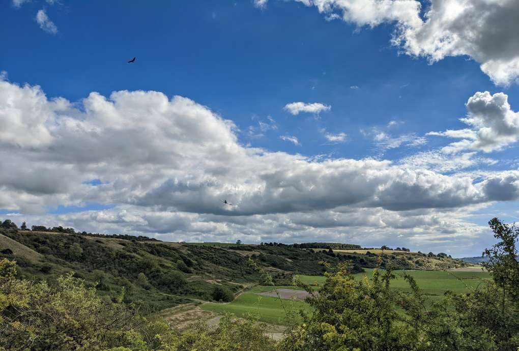 Fair weather in the Dunstable Downs Dunstable, Beds,United Kingdom, sent by brian gaze
