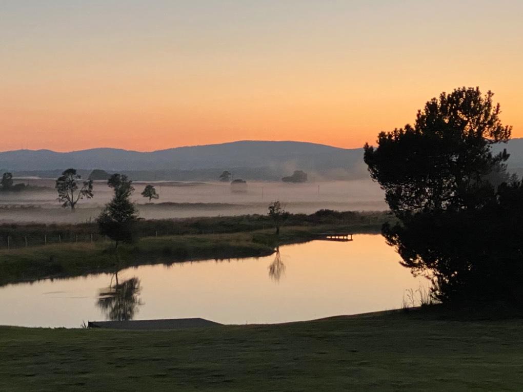 Misty sunset Cromdale, ,Scotland, sent by DAllison