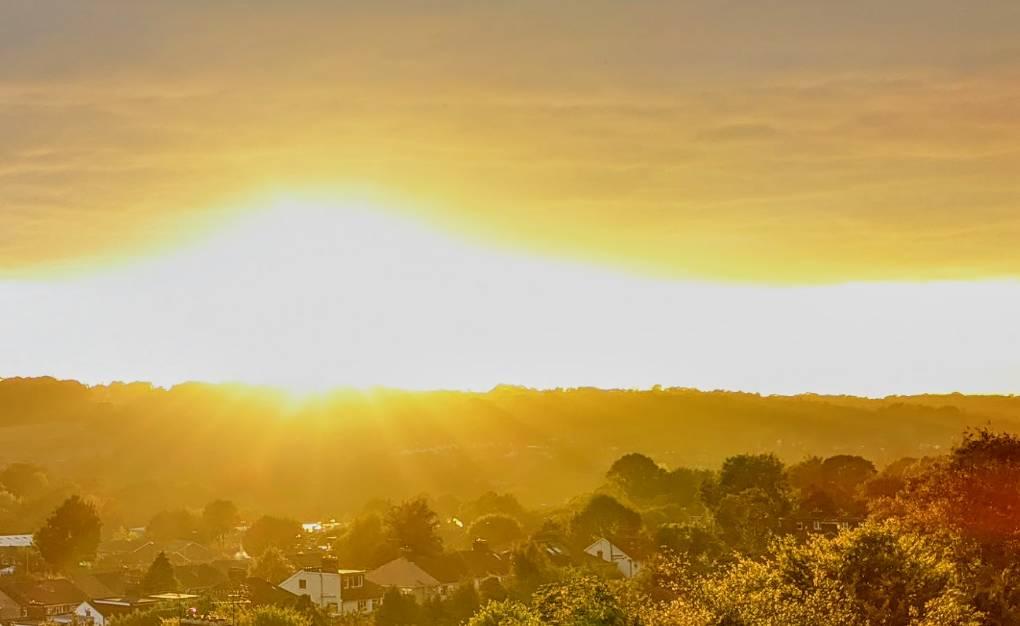 Spectacular sunset in Berko Berkhamsted, Hertfordshire,United Kingdom, sent by brian gaze