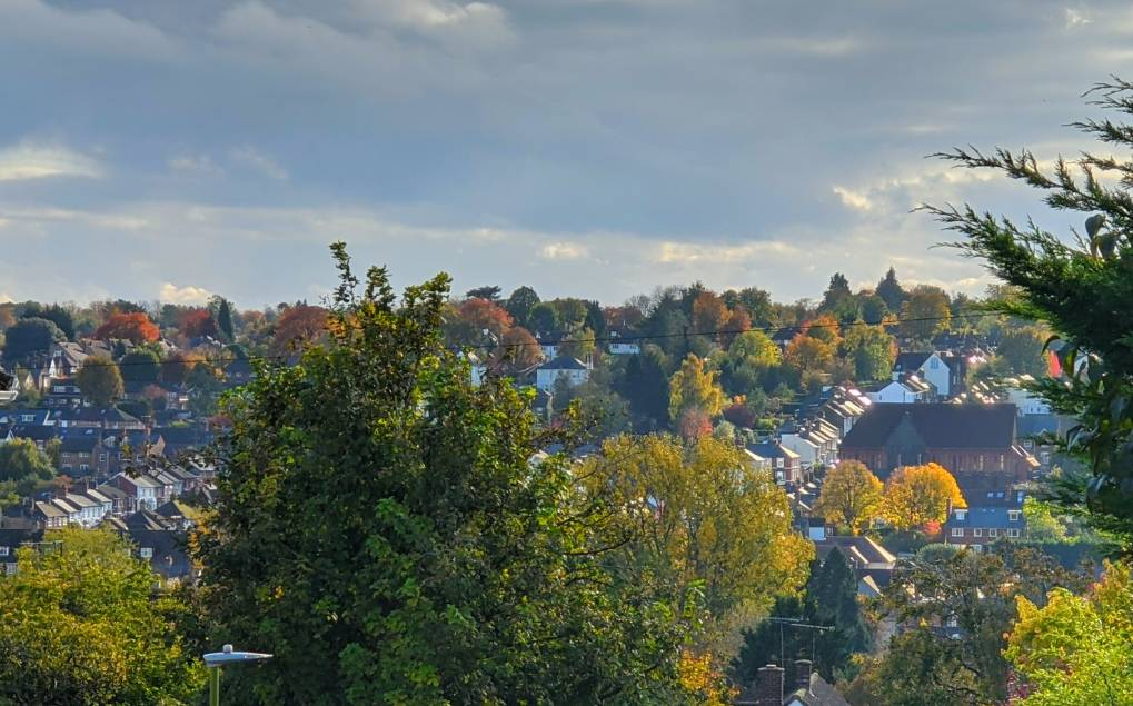 Looking across the valley Berkhamsted, Herts,, sent by brian gaze