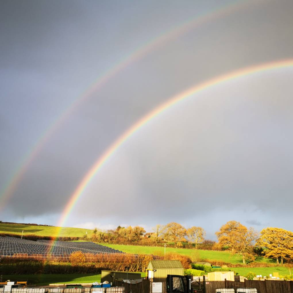 Double rainbow (19/11/20) Crewkerne, Somerset,United Kingdom, sent by glynnadams68