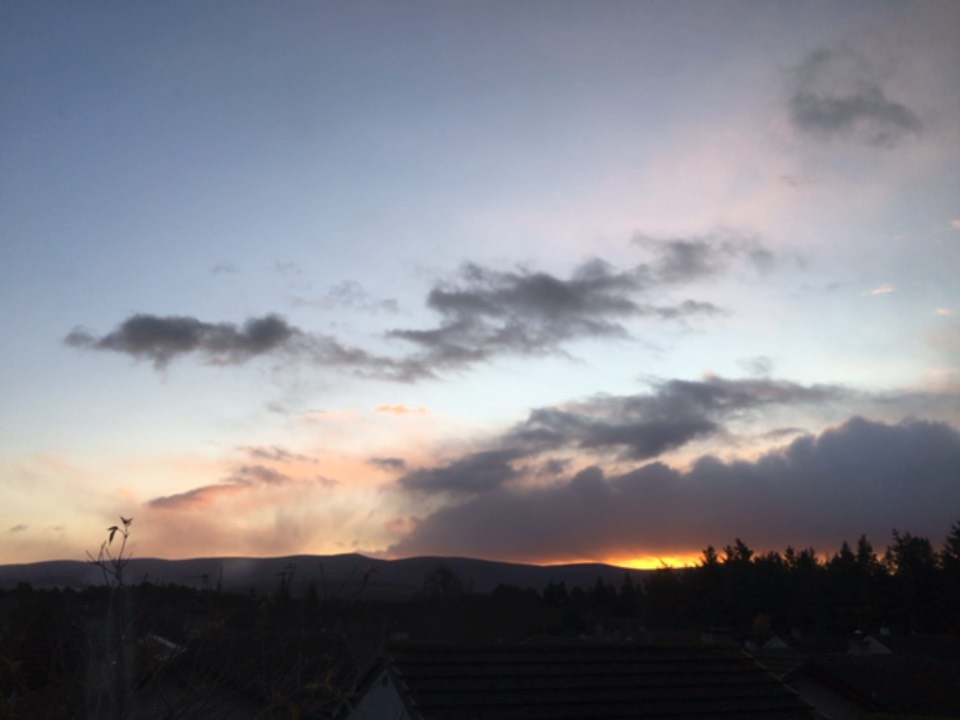 Sunrise Grantown on Spey, Moray,Scotland, sent by dizzy daff