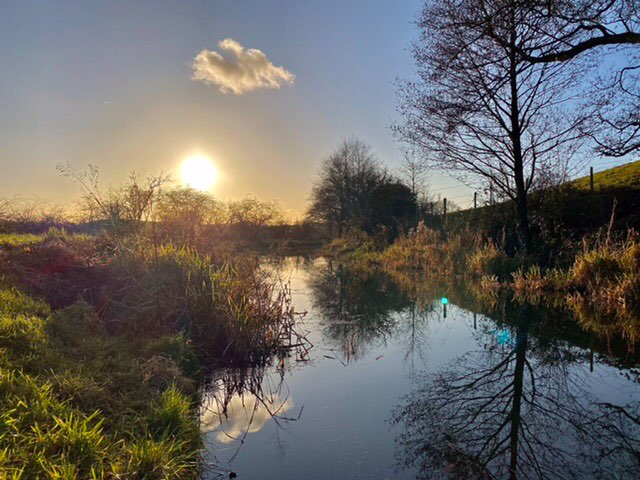 winters day on caldon canal. leek, staffordshire,uk, sent by toppiker60