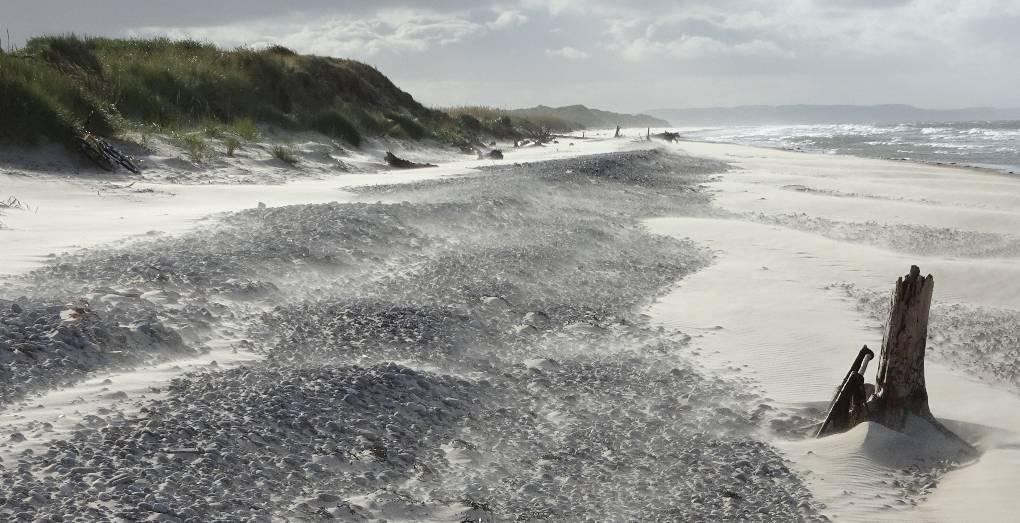 Windblown sand, Culbin Beach Forres, Moray,Scotland, sent by slowoldgit