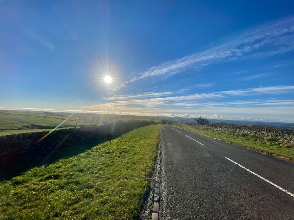 Back in the cold air,with a frint approaching from the sw..(cycle ride) leek, staffordshire,uk, sent by toppiker60
