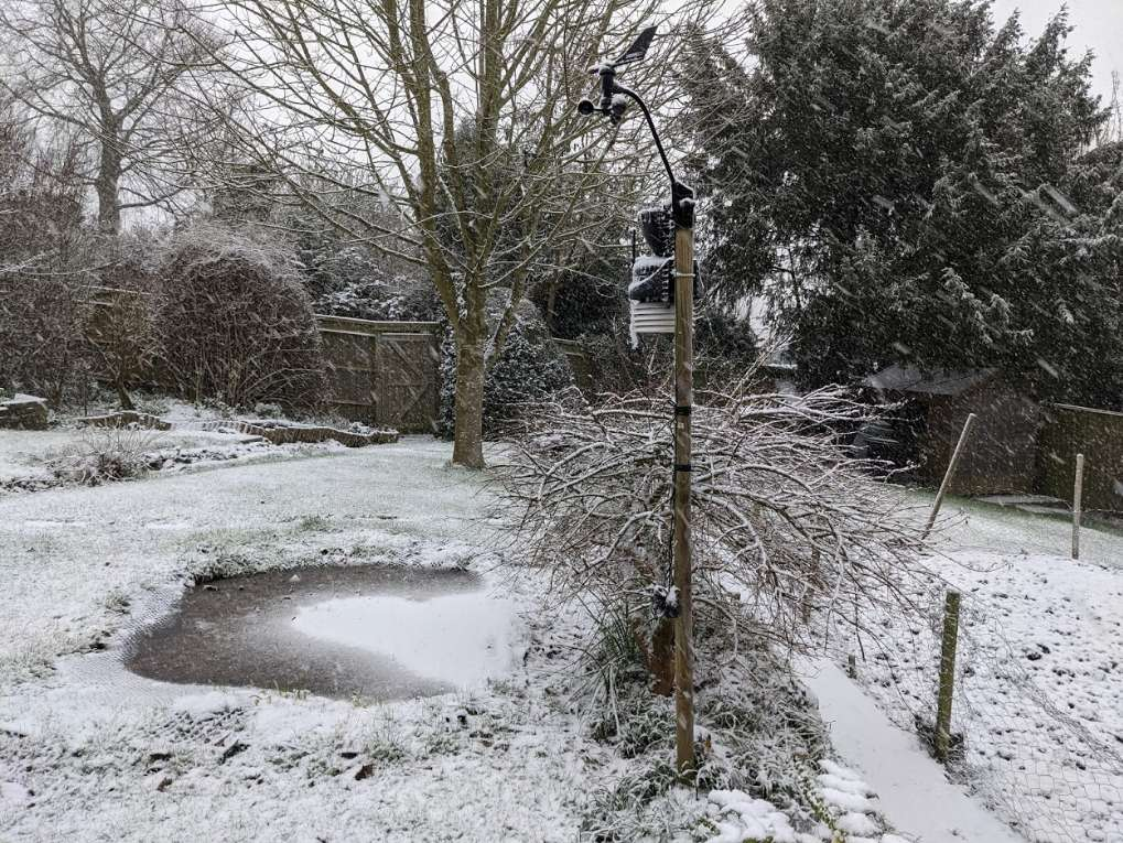 Snowy Sunday in the Chilterns Berkhamsted, Herts,, sent by brian gaze