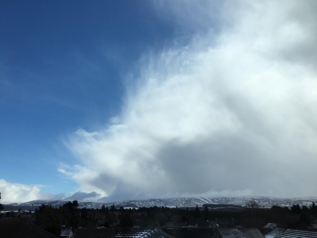 Big cloud! Grantown on Spey, ,, sent by dizzy daff