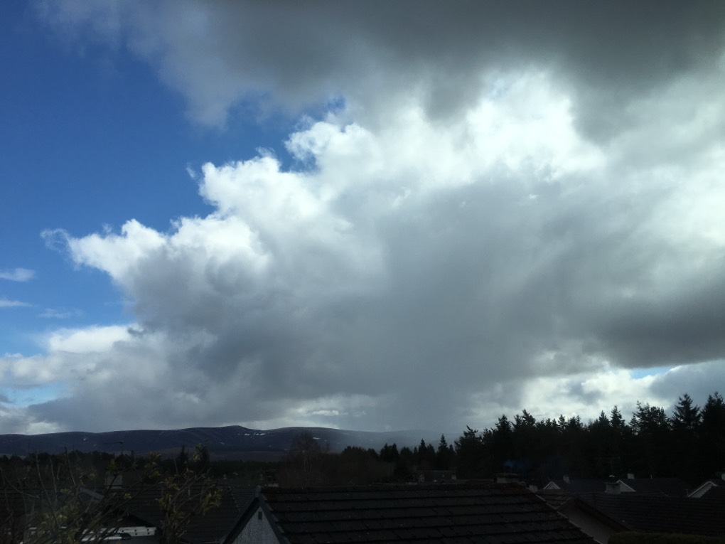 Passing shower Grantown on Spey, ,, sent by dizzy daff