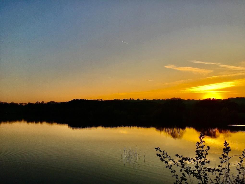sunrise over tittesworth resevoir.. leek, staffordshire,uk, sent by toppiker60