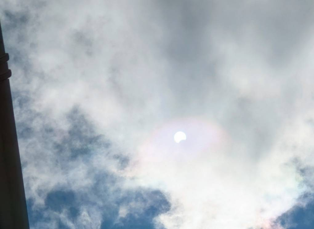 Solar eclipse on 10th June 2021 Berkhamsted, Herts,, sent by brian gaze