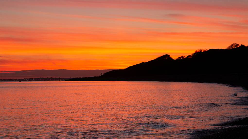 Afterglow Weymouth, Dorset,United Kingdom, sent by NMA